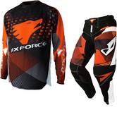MX Force Tackle Mirage Motocross Jersey & Pants Orange Kit