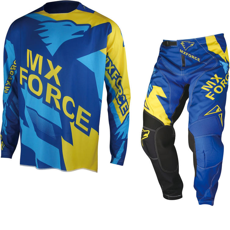 MX Force AC-X Maxix Motocross Jersey & Pants Blue Kit