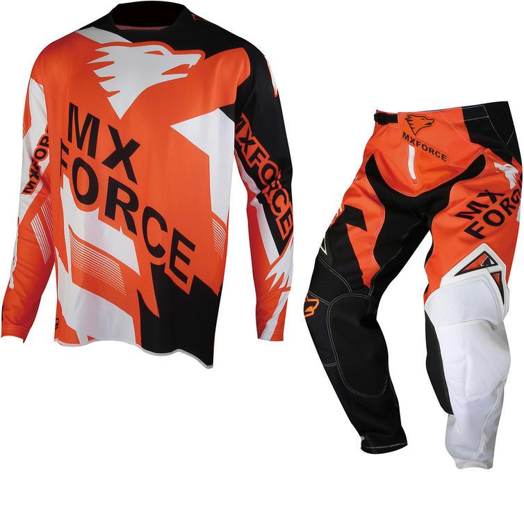MX Force AC-X Maxix Motocross Jersey & Pants Orange Kit