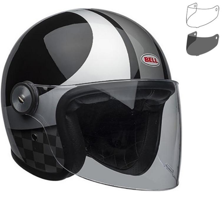 Bell Riot Checks Open Face Motorcycle Helmet & Visor