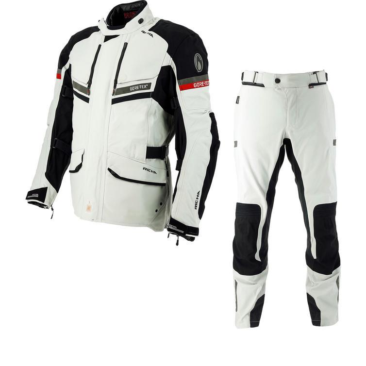 Richa Atlantic GTX Motorcycle Jacket & Trousers Grey Kit