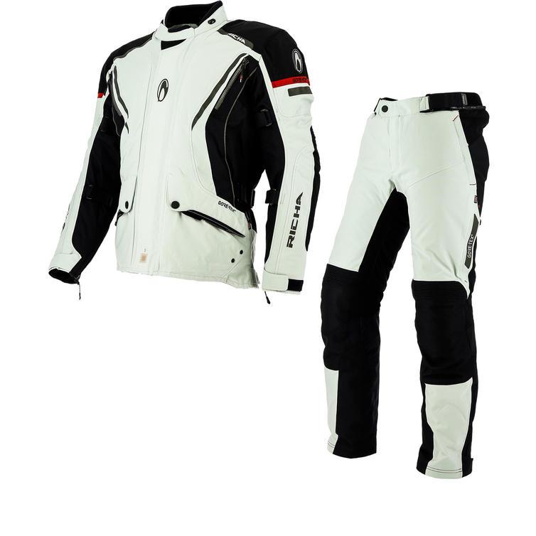 Richa Cyclone GTX Motorcycle Jacket & Trousers Grey Kit
