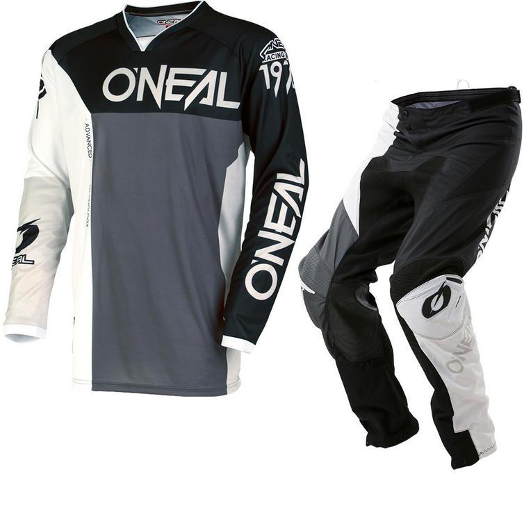 Oneal Mayhem Lite 2018 Split Motocross Jersey & Pants Black Gray Kit