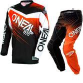 Oneal Element 2018 Racewear Youth Motocross Jersey & Pants Black Orange Kit