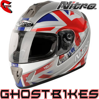 View Item Nitro NGFP London Motorcycle Helmet