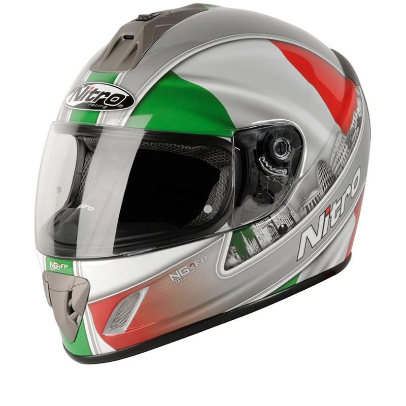 Nitro ngfp italy full face acu gold motorbike motorcycle racing crash