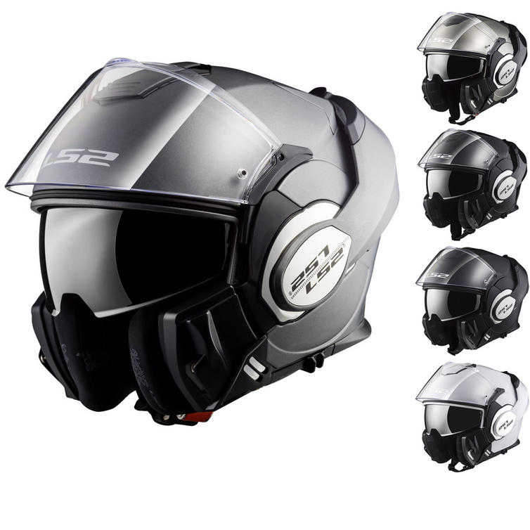 LS2 FF399 Valiant Single Mono Flip Front Motorcycle Helmet