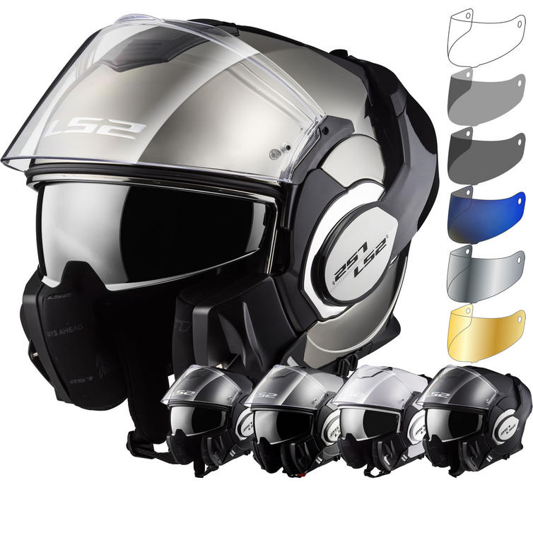 LS2 FF399 Valiant Single Mono Flip Front Motorcycle Helmet & Visor