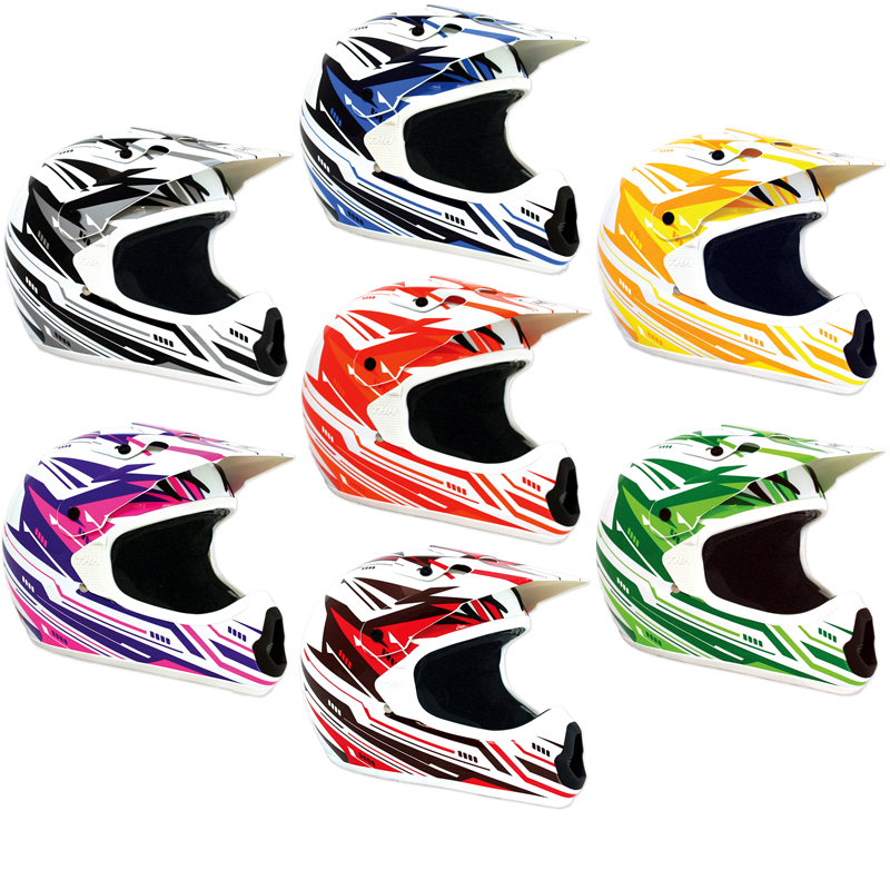 THH TX-10 TX10 #3 MX ENDURO ATV QUAD PIT DIRT BIKE ACU GOLD MOTOCROSS HELMET Enlarged Preview
