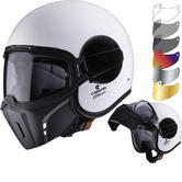 Caberg Ghost White Open Face Motorcycle Helmet & Visor