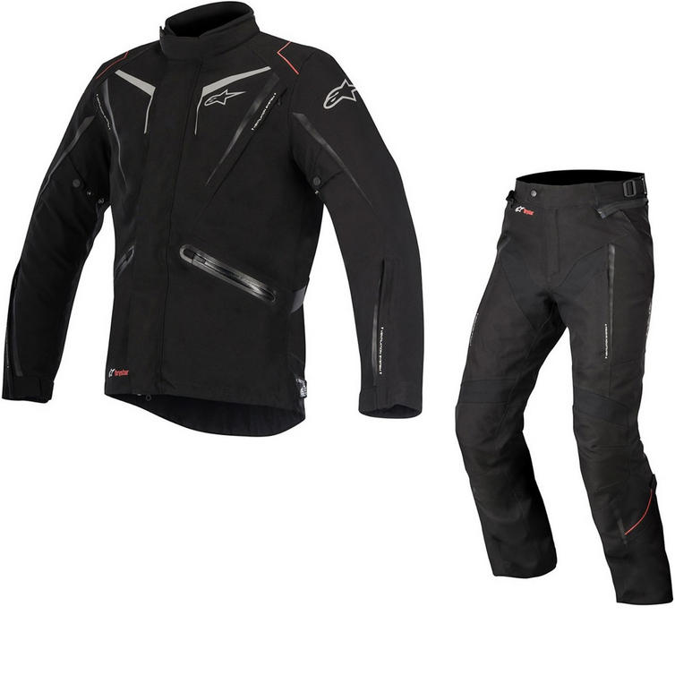 Alpinestars Yokohama DryStar Motorcycle Jacket & Trousers Black Kit