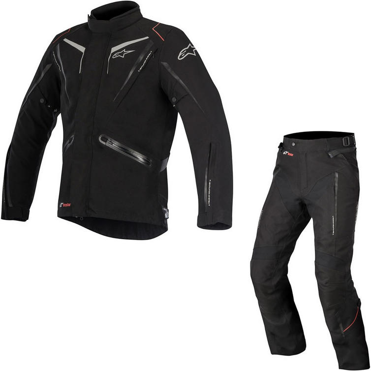 Alpinestars Yokohama DryStar Motorcycle Jacket & Trousers Black Kit