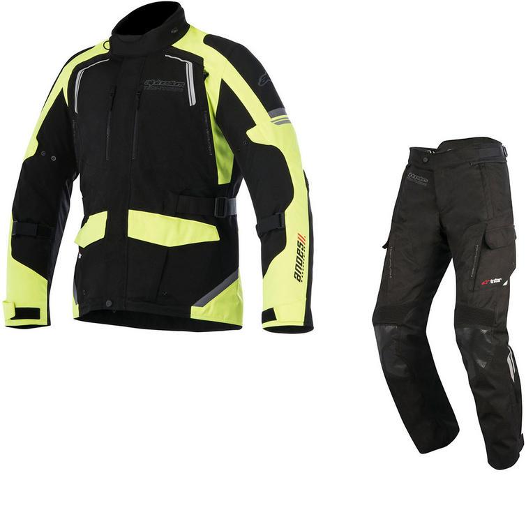 Alpinestars Andes DryStar v2 Motorcycle Jacket & Trousers Fluo/Black Kit