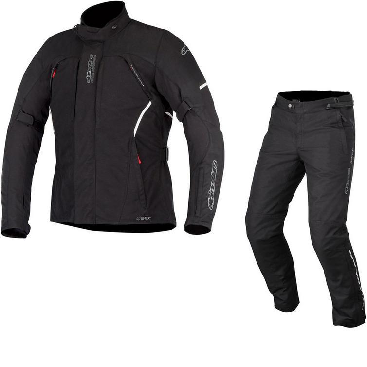 Alpinestars Ares Gore-Tex Jacket & Patron Gore-Tex Trousers Motorcycle Black Kit