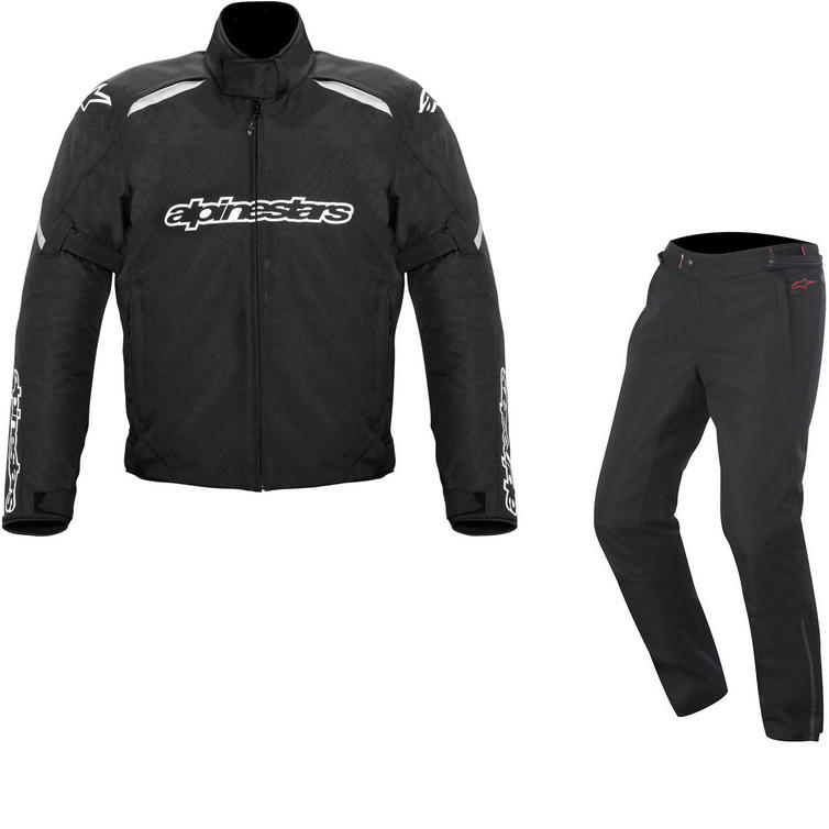 Alpinestars Gunner v2 Jacket & Protean DryStar Trousers Motorcycle Black Kit