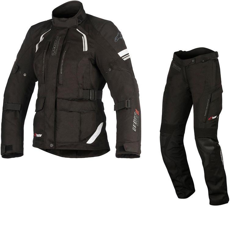 Alpinestars Stella Andes DryStar v2 Ladies Motorcycle Jacket & Trousers Black Kit
