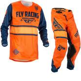 Fly Racing 2018 Kinetic Era Motocross Jersey & Pants Orange Navy Kit