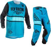 Fly Racing 2018 Kinetic Era Motocross Jersey & Pants Blue Black Kit