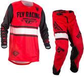 Fly Racing 2018 Kinetic Era Youth Motocross Jersey & Pants Red Black Kit