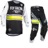 Fly Racing 2018 Kinetic Era Youth Motocross Jersey & Pants Black White Kit
