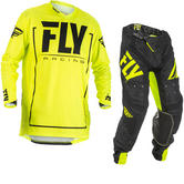 Fly Racing 2018 Lite Hydrogen Motocross Jersey & Pants Hi-Vis Black Kit