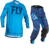 Fly Racing 2018 Lite Hydrogen Motocross Jersey & Pants Blue Navy Kit