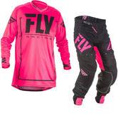 Fly Racing 2018 Lite Hydrogen Motocross Jersey & Pants Pink Black Kit
