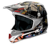 One Industries Trooper 2 Punked Motocross Helmet