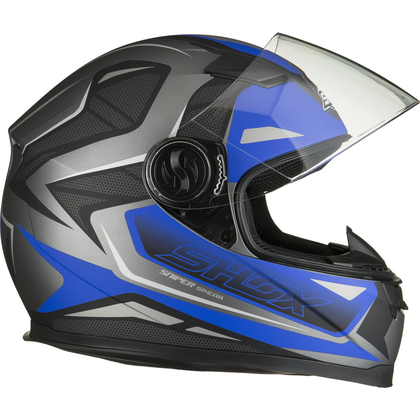 Shox Sniper Spear Full Face Motorbike Motorcycle Scooter Bike Helmet Ghostbikes