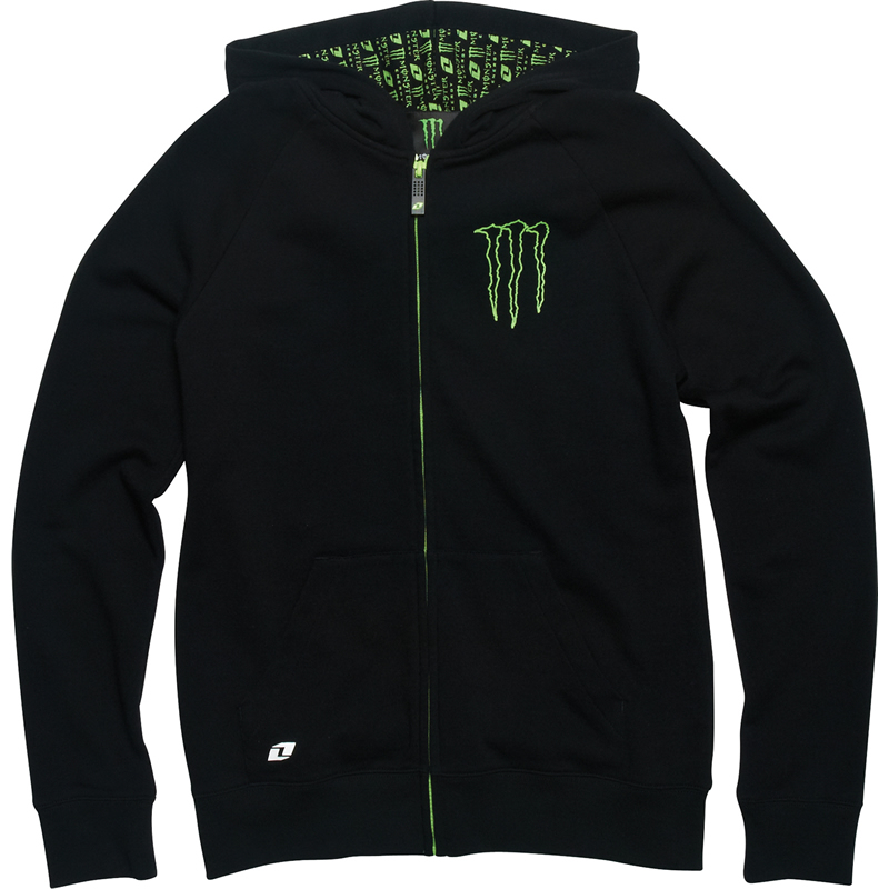 sweat shirt femme officiel monster energy noir a zip et capuche taille s xl ebay. Black Bedroom Furniture Sets. Home Design Ideas