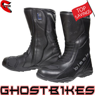 View Item Black Oxygen Motorcycle Boots