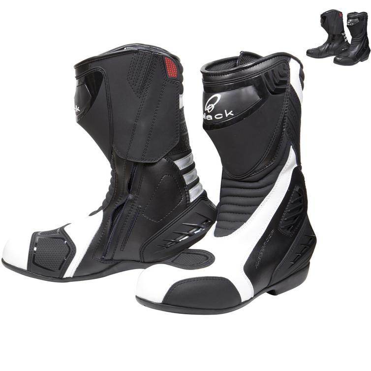 Black Strike Waterproof Motorcycle Boots