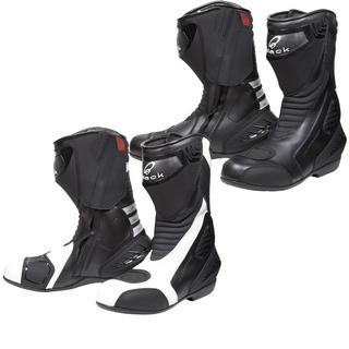 Black Strike Waterproof Motorcycle Boots