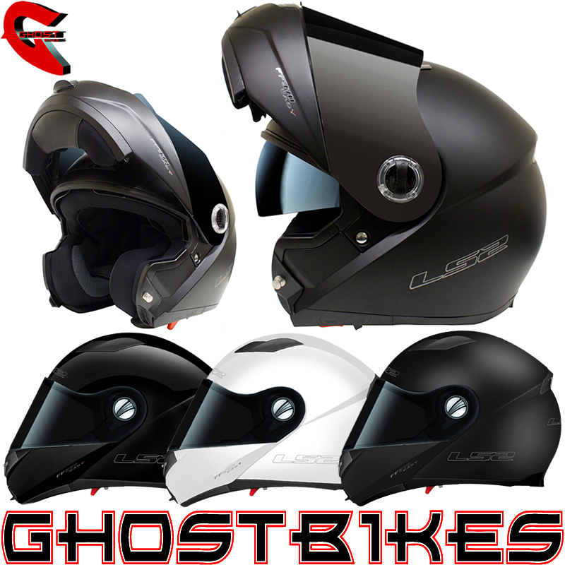 LS2 FF370 EASY FLIP FRONT MODULAR MOTORBIKE MOTORCYCLE SCOOTER HELMET GHOSTBIKES Enlarged Preview