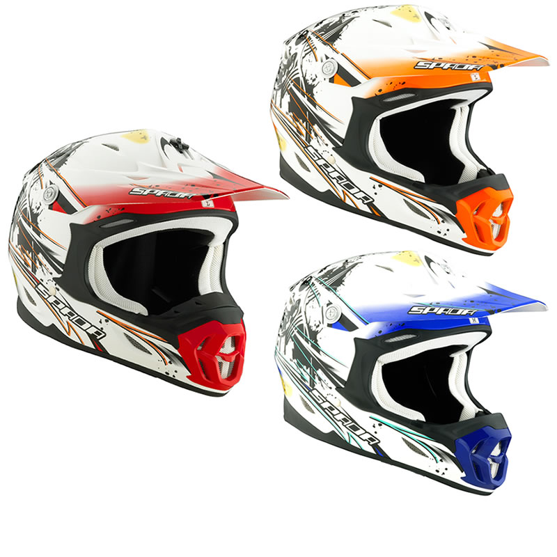 SPADA VIOLATOR GRIT MX ATV QUAD ENDURO MOTOCROSS OFF ROAD MOTO X BIKE HELMET Enlarged Preview
