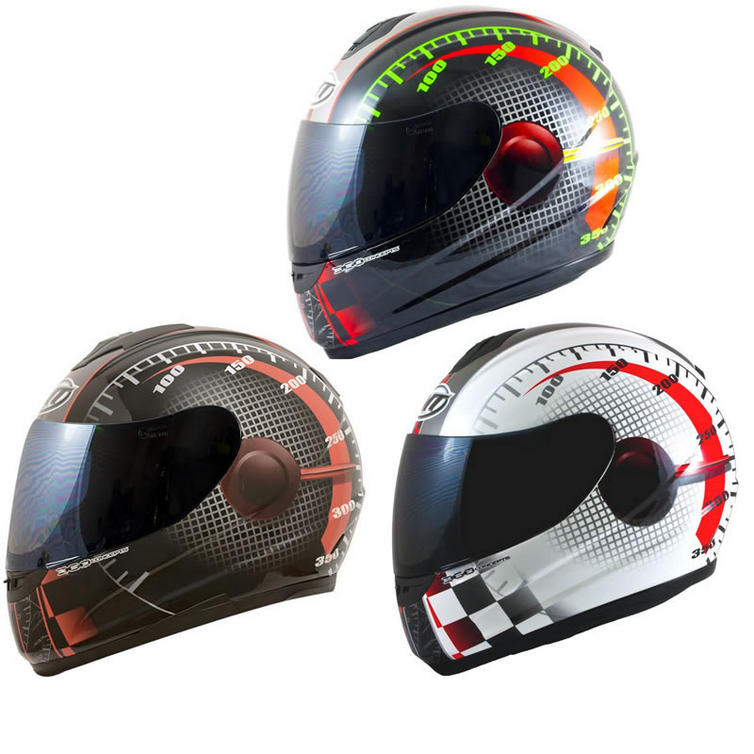 MT Thunder Lightning Max Power Motorcycle Helmet