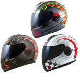 MT Thunder Lightning Max Power Motorcycle Helmet