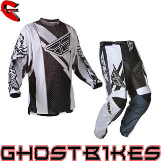 View Item Fly Racing 2012 F-16 Black-White Motocross Kit