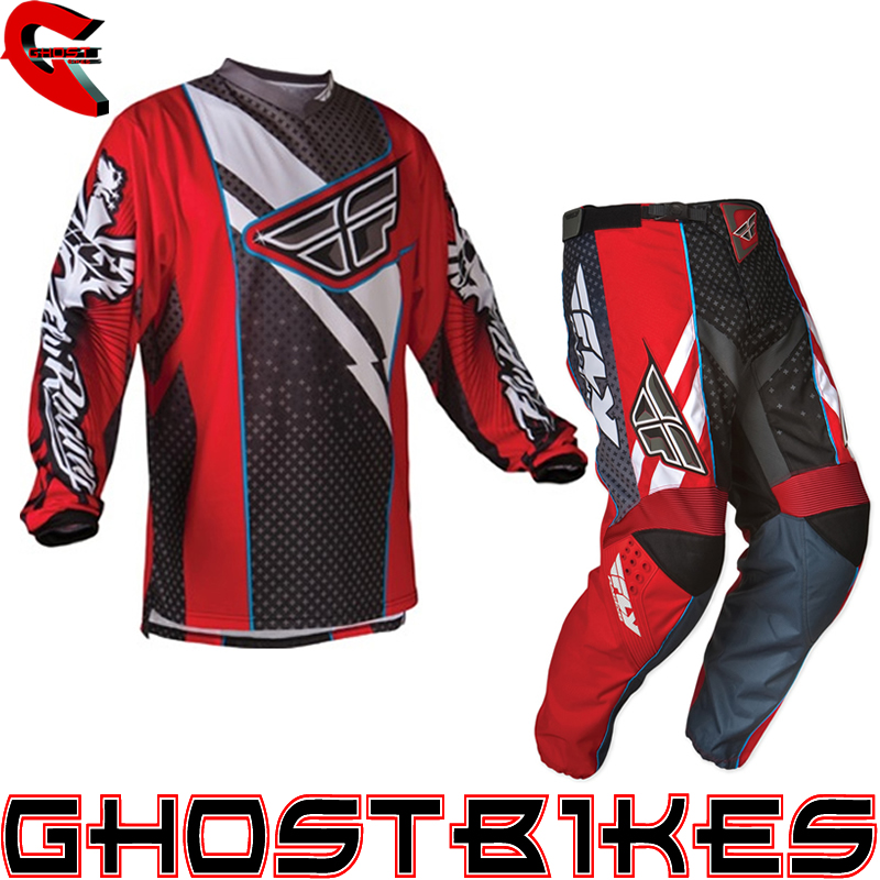 FLY RACING 2012 F-16 RED/BLACK MX ENDURO MOTOCROSS JERSEY & PANTS COMBO KIT Enlarged Preview