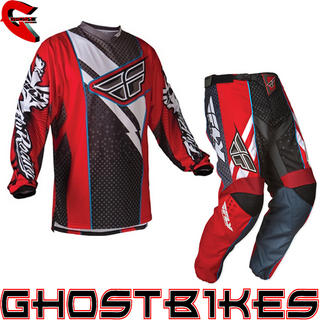 View Item Fly Racing 2012 F-16 Red-Black Motocross Kit