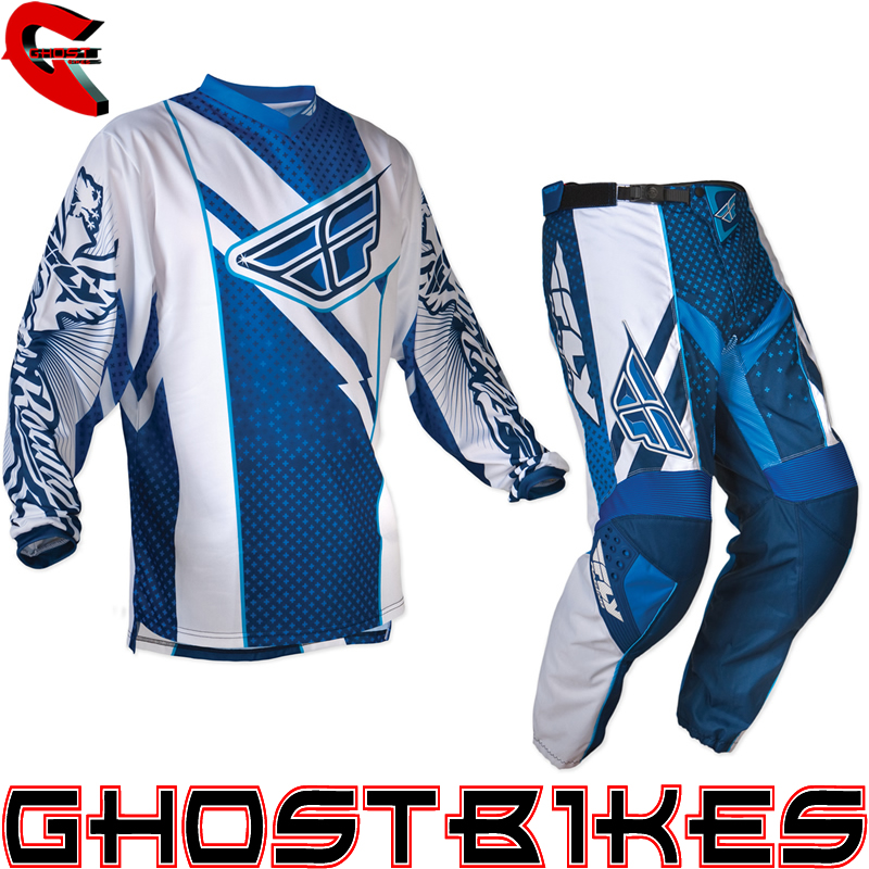 FLY RACING 2012 F-16 BLUE/WHITE MX ENDURO MOTOCROSS JERSEY & PANTS COMBO KIT Enlarged Preview