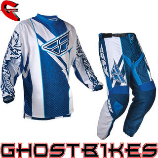 View Item Fly Racing 2012 F-16 Blue-White Motocross Kit