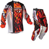 Fly Racing 2012 Kinetic Orange-Black Motocross Kit