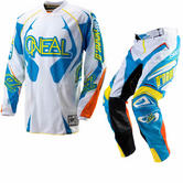 View Item Oneal Hardwear Vented 2012 White-Cyan Motocross Kit