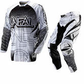Oneal Hardwear 2012 Mixxer White-Black Motocross Kit