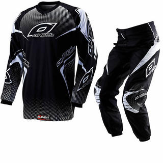 Oneal Element Kids 2012 Racewear Black Motocross Kit