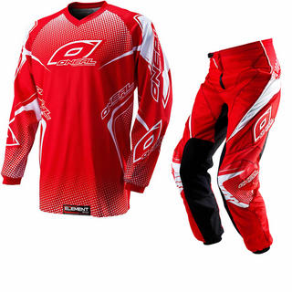 Oneal Element Kids 2012 Racewear Red Motocross Kit