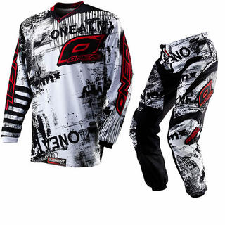Oneal Element Kids 2012 Toxic Black-White Motocross Kit