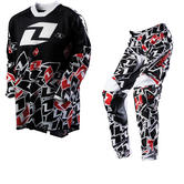 One Industries 2012 Youth Carbon Stickers Black-Red Motocross Kit