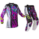 Fly Racing 2012 Kinetic Ladies Purple-Teal Motocross Kit